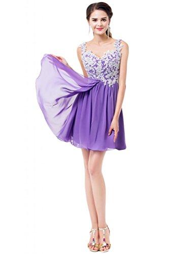 Sunvary Spaghetti-Paillettes fascia increspata Homecoming Party Gowns vestiti Lavanda