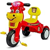 Panda Baby Product HK World Happy Birthday Tricycle with Music with Lights  Red