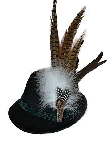 Herzensschatz Trachtenhut schwarz, mit pinker Natur (55)