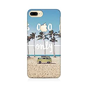RAYITE Good Vibes Only Premium Printed Mobile Back Case Cover For Apple iPhone 7 Plus Apple Logo Cut