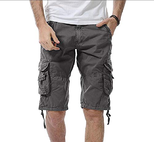 CuteRose Men Multicamo Tactical Pants Big and Tall Straight-Fit Boardshorts Grey 37 Old Navy Capri-jeans