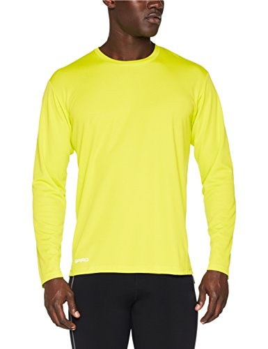 SPIRO Mens Quick Dry Shirt Gelb (lime)