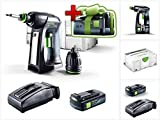 Jetzt mit GRATIS AKKU: Festool C 18 Li-Basic Akku Bohrschrauber im Systainer + BP 18 Li 3,1 C Akku + TCL 6 Schnellladegerät