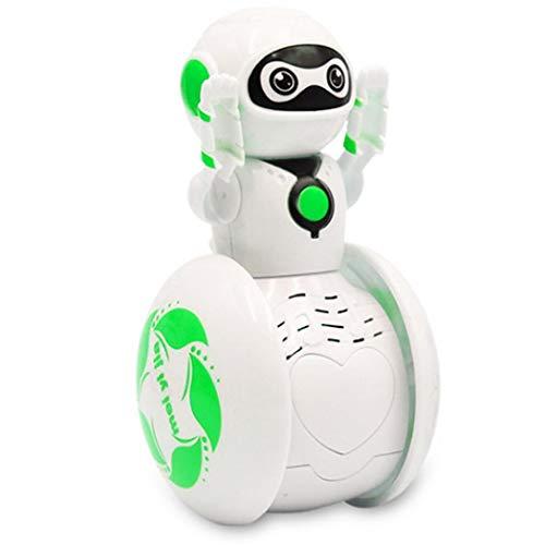 Lieja Mini Music Robot Tumbler, intelligenter Roboter mit Stimminduktion und weicher Beleuchtung, Kleiner elektrischer Roboter-Spielzeug-Geschenk für Kinder 3+