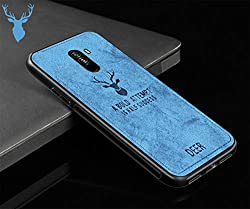 SOCINY Creative Canvas Elk Silikon TPU Hülle für Xiaomi Pocophone F1 (blau)