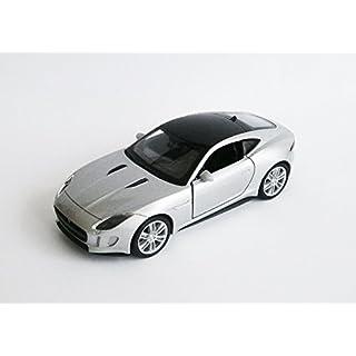 Anik-Shop Jaguar F-Type Coupe Modellauto 12cm Metall 4 Farben Modell Auto Spielzeugauto 58 (Silber)