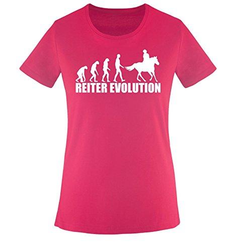 REITER EVOLUTION -Damen T-Shirt Sorbet/Weiss Gr. S