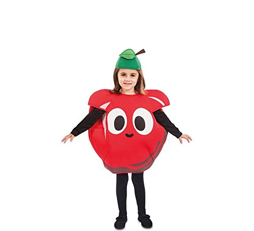 EUROCARNAVALES Kinder Kostüm Früchtchen 3-4 Jahre Frucht-Verkleidung Obst (Apfel) (Für Erwachsene Grüne Trauben Kostüm)