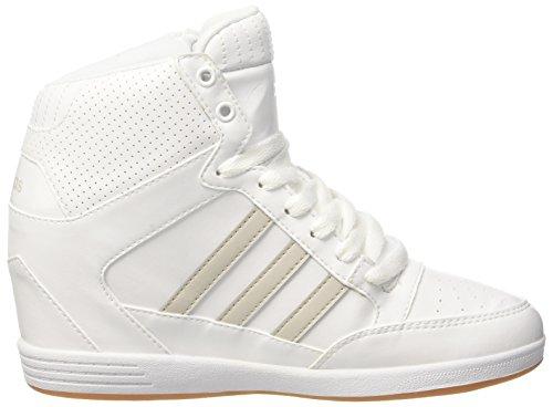 adidas Super Wedge W, Sneaker Bas du Cou Femme Blanc Cassé (Ftwbla/ftwbla/griper)
