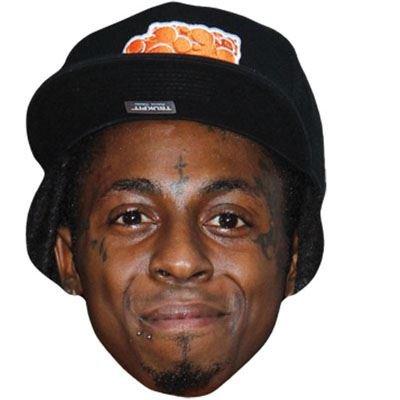 Celebrity Cutouts Lil Wayne Maske aus Karton