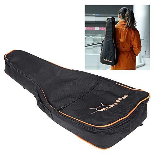 600D wasserbeständige Ukulele-Ukulele-Gig-Bag Nylon-Rucksack verstellbare Schultergurte Tasche 5mm Baumwolle für Tenor-Ukelele für 26'27' -Ukelele (Farbe: Schwarz (