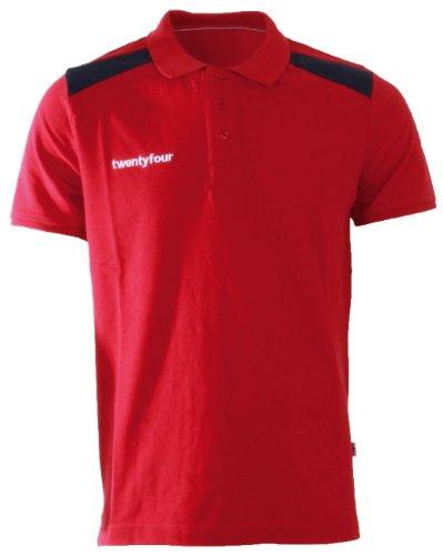 Twentyfour Herren Norge Poloshirt in Norwegen Farben Rot