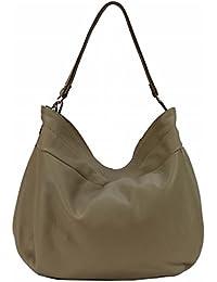 84805414210e1 Bozana Bag Lena Beige Italy Designer Damen Handtasche Schultertasche  Ledertasche Tasche Wildleder Prägung Shopper Neu