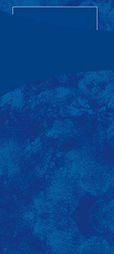 Duni Sacchetto Serviettentasche Uni dunkelblau, 8,5 x 19 cm, Tissue Serviette 2lagig dunkelblau, 100 Stück (100 Papier Servietten)