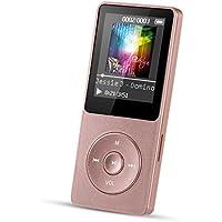 AGPTEK A02 8GB MP3 Musik Player 70 Stunden Wiedergabe 1,8 Zoll Display, Glänzend Rosegold