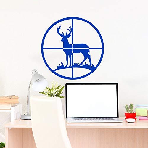 Geiqianjiumai Jagdkunst Design Dekoration Vinyl Wandaufkleber abnehmbare Dekoration blau 58cm x 58cm (Tops Tier Scrub Drucken)