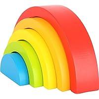 Small Foot 10585 - Juego de Accesorios para Motores de bebé, diseño de arcoíris con Cinco Diferentes Colores y Formas, Ideal para los Primeros Meses
