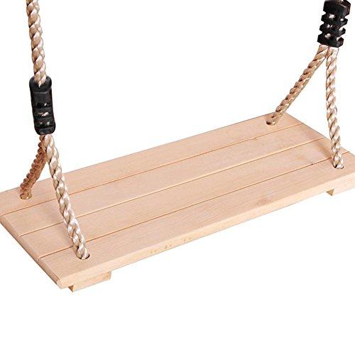 Altalena appesa in legno. Corda in nylon di alta qualità e altalena in legno anti-corrosione lucidata a quattro bordi Altalena in legno pastorale interna per adulti per bambini