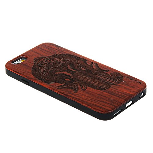 per iPhone 7 Custodia, Forepin® Reale Handmade Legno Retro Custodia Cover Protettivo Skin Caso Hard PC Bumper Case per iPhone 7 - Colore 12 Colore 09