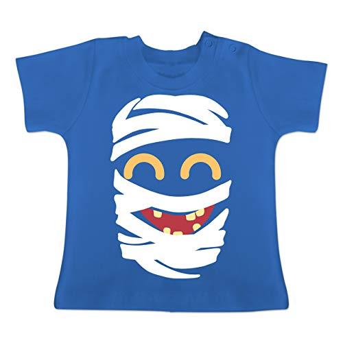 Karneval und Fasching Baby - Mumie Karneval Kostüm - 1-3 Monate - Royalblau - BZ02 - Baby T-Shirt Kurzarm (Kostüm Junge Mumie)