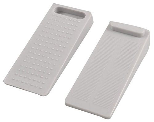 Km Set Of 2 Stackable Non-Slip Rubber Wedge Door Stoppers – To Stop Or Jam Doors (Colors May Vary)