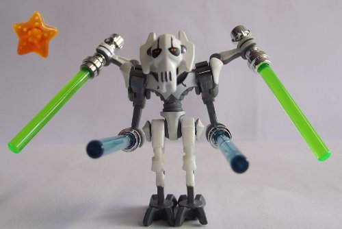 LEGO-Star-Wars-Mini-Figure-General-Grievous-with-4-Light-Sabres-and-Star