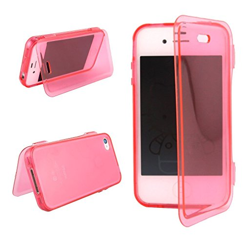 casefirst iPhone 4 4s Case, Slim Drop Protection Cover, Grip Back - Red (Für Carry Case 4s Iphone)