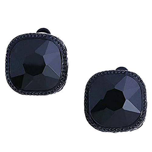 Sweet Princess Ohrclips für Mädchen und Damen, mit Zauberwürfel, ohne Ohrlöcher, Kubik-Art-Deco, Schwarz (Karton-heart Shaped Box)