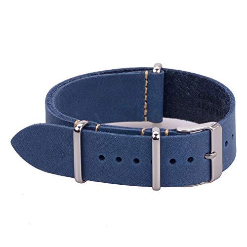Britischer Retro-Stil Lederarmbänder aus echtem Leder mit kleinem Loch Weitere Farbe und Größe 18mm 20mm 22mm Großhandel - Britischen Tan Leder