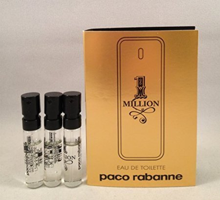 3 Paco Rabanne 1 One Million Men EDT .05 Oz/1.5 Ml Each Spray Sample Vial  available at amazon for Rs.2366