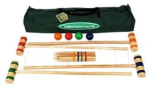 Traditional Garden Games, Kit de 96 cm para Croquet de Jardín en Bolsa de Tela para Transportar
