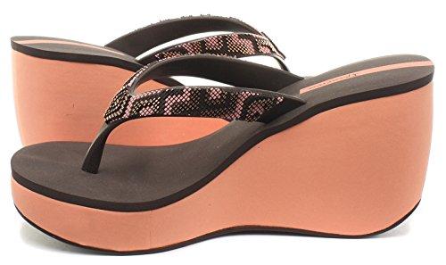 Flip-Flops mit Absatz Ipanema Lipstick Bolero Schwarz und Grau Coral/Dark Brown