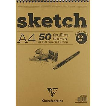 Blocco di Carta fogli stampati punti punto rimovibile 14,8 x 21 cm A5 Clairefontaine 80 fogli GraF It 90g 96694C copertina vuota