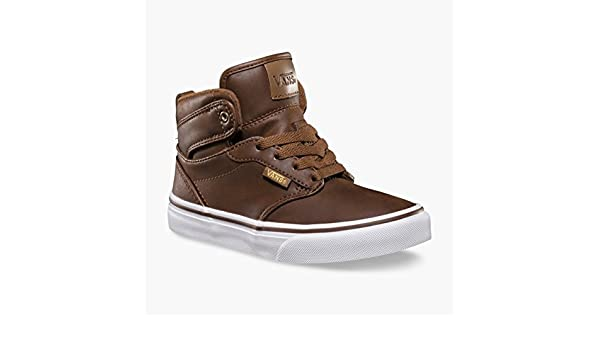 70aa731a5aba Vans Kids Y Atwood Hi MTE Brown Coffee Hi Tops Trainers Shoes   Amazon.co.uk  Shoes   Bags