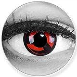 Sharingan lenti a contatto colorate Kakashi In Rosso + contenitore – Funnylens marchio di qualità, 1 Coppia (2 pezzi)