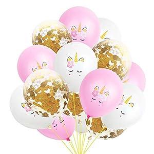 15PCS Party Globos de unicornio