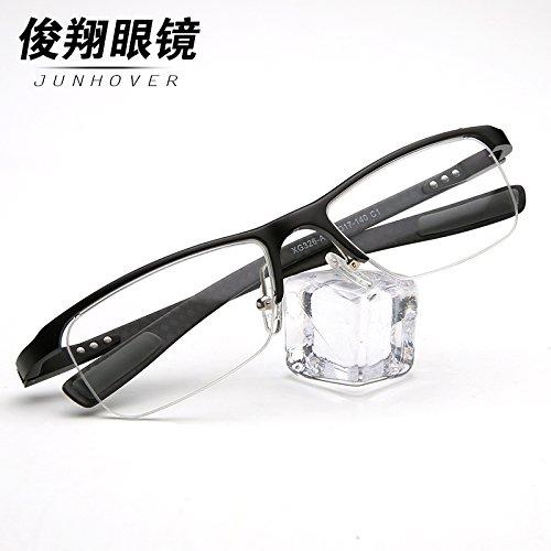 die neuen männer und frauen mode - brille wolfram kohlenstoffstahl ultraleicht - retro - hälfte brille optische gläser die brille,von matt black