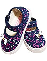FOOTONREST Latest Collection, Comfortable & Fashionable Blue Belly for Kids and Girls 1.5 Year to 4.5 Year