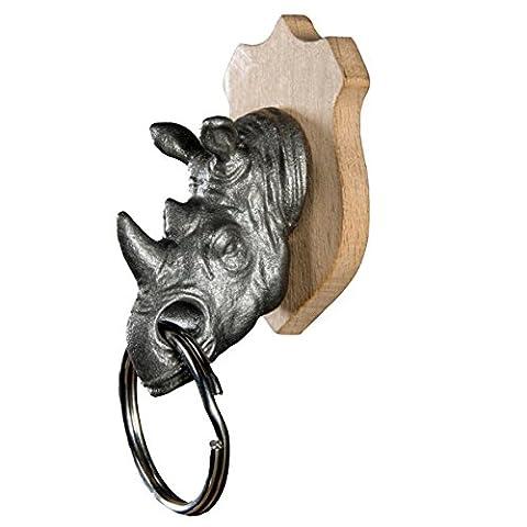 SUCK UK Tierkopf-Schlüsselhalter – Nashorn (Sk Leiter)