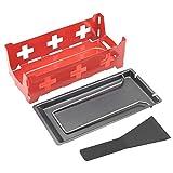 TOPINCN Teglia da Forno per Formaggio Resistente alle Alte Temperature Resistente alle Alte Temperature Raclette Rotaster Stufa Bakeware Set Utensile da Cucina(Rosso)