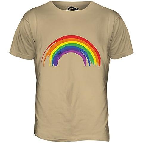 CandyMix Arcobaleno Dipinto T-Shirt da Uomo (Toffee Pennello)