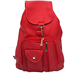 Vintage Stylish Girls School bag College Bag (In Four Colors)(bag r 124) (Red)