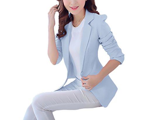 Saoye Fashion Traje Chaqueta Mujer Elegantes Primavera Chic Moda Casual  Oficina Blazer Manga Larga De Solapa 52459243fbd8