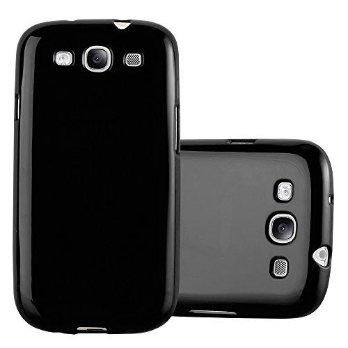 Preisvergleich Produktbild Cadorabo Hülle für Samsung Galaxy S3 / S3 NEO - Hülle in Jelly SCHWARZ – Handyhülle aus TPU Silikon im Jelly Design - Silikonhülle Schutzhülle Ultra Slim Soft Back Cover Case Bumper