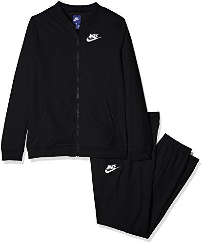 Nike G NSW, Tricot Mädchen Trainingsanzug, Schwarz (Black/White), L