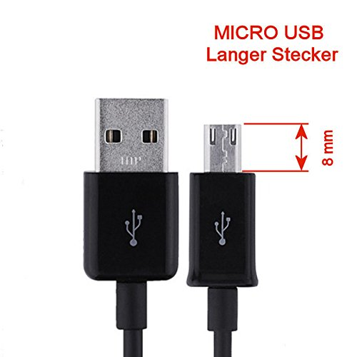 Cdma Verizon-handy (KRS - ST2 - Langer Stecker Stecker 9mm USB SYNC cable kabel Datenkabel Ladekabel Micro USB für Samsung S4 S5 S6 HTC One Touch /one Touch mini ca 90 cm schwarz)