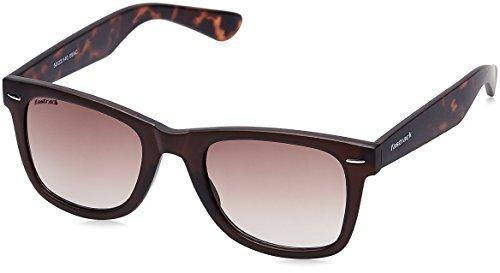 Fastrack UV Protected Wayfarer Men's Sunglasses (P302BR2|50|Brown) image