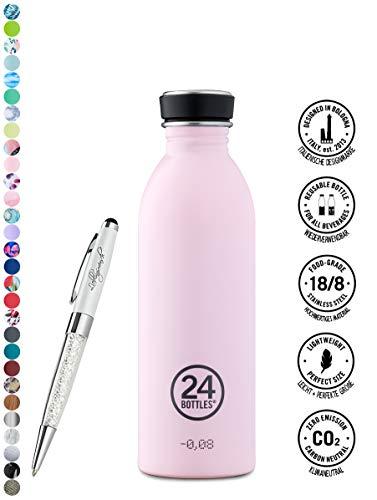che Urban 250 ml | 500 ml | 1000 ml versch. Farben inkl. Lieblingsmensch Kugelschreiber, Größe:500 ml, Farbe:candy pink ()