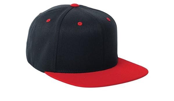 9c212fa6e97 Premium Blank Flexfit Yupoong 110F Wool Blend Solid Snapback Cap Hat   2- Tone - Black -  Amazon.co.uk  Books