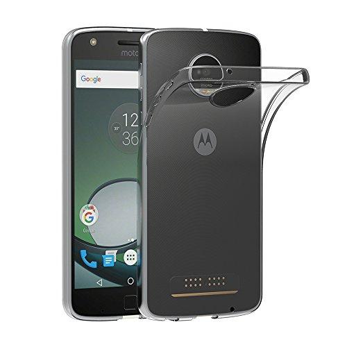 AICEK Lenovo Moto Z Play Hülle, Transparent Silikon Schutzhülle für Motorola Moto Z Play Case Crystal Clear Durchsichtige TPU Bumper Motorola Moto Z Play Handyhülle